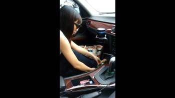 【完全素人】かわいい19歳読モJDにお願いして車内フェラしてもらっちゃいました!【個人撮影】