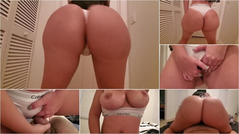 Crystal Lust - 19 Year old Curvy Girl Fucked through White Calvin Klein Panties [FullHD 1080P]