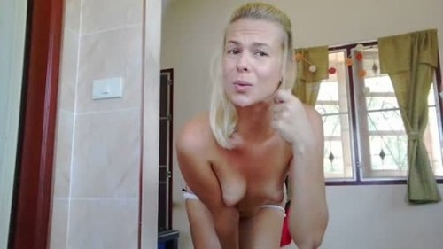 Dirty and Messy Enema in White Panty - Defecation, Shiting Girl, Dirty Ass