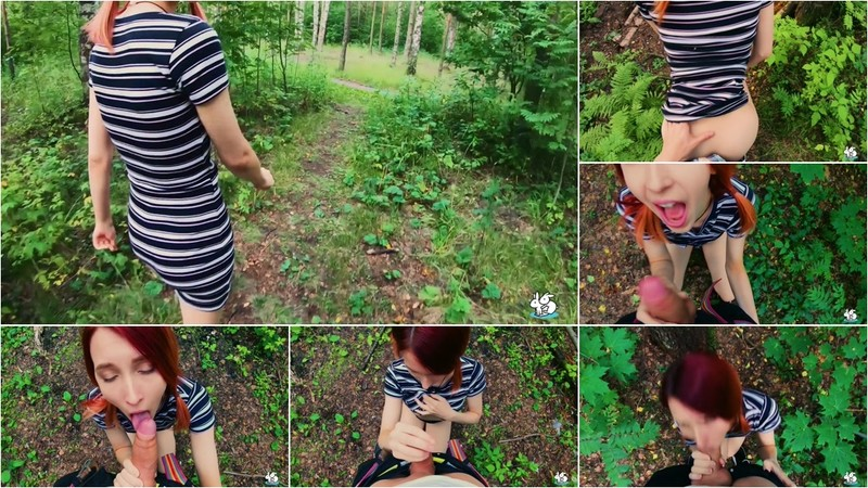 Elin Flame: Redhead Deepthorats Boyfriends Cock While Walking In The Forrest [FullHD 1080P]
