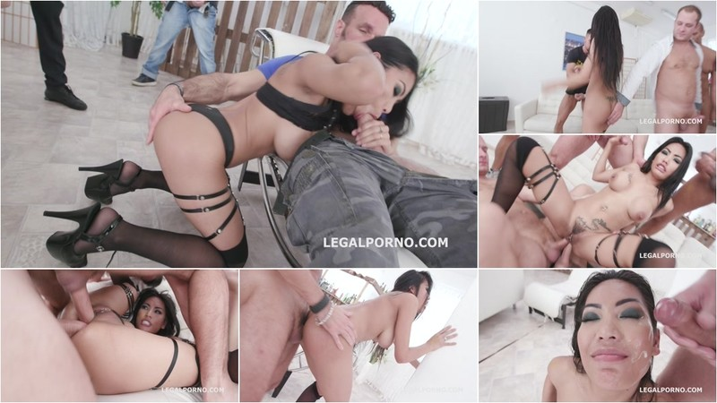 7on1 Double Gangbang with Polly Pons Balls Deep Anal, DAP, Gapes and Facial GIO1267 [HD 720P]