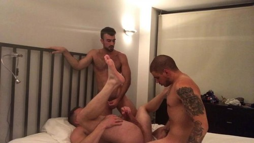 RawFuckClub - 3-Way Flip Fuck with John Strap Part 2: Mason Lear, Brian Bonds Bareback