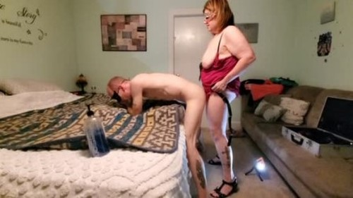 PinkAndFloyd - Horny BBW Pegging him to Multiple Orgasms 4K - Worship, Mistress, Femdom Porn