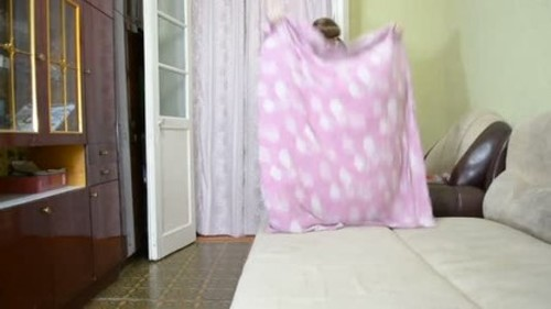 Shit on the sheet - Solo Scat Fetish, Defecation, Shiting Girl, Dirty Ass