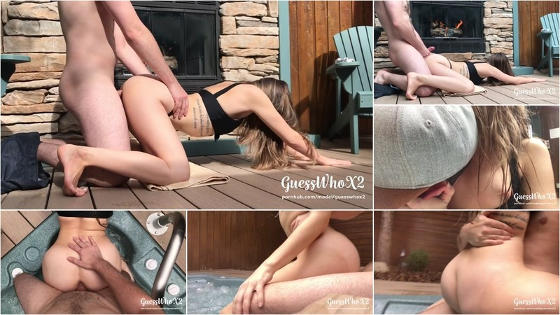 GuessWhoX2 - Young Amateur Couple Passionate Hot Tub Fuck, TWO CUMSHOTS? FULL [FullHD 1080P]