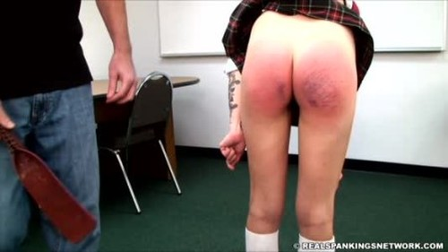 Rae is Caught with No Bra or Panties - Spanking and Whipping, Punishment