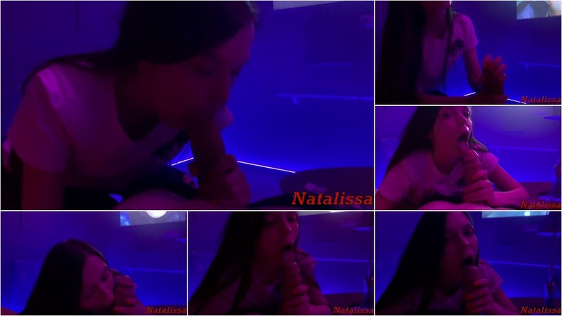 Natalissa - Risky Public POV Blowjob in PS Club VIP Room [FullHD 1080P]
