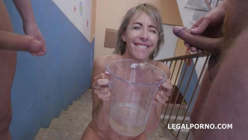Drowned In Piss, Vicky Sol 6On1 Insane Watersport With Manhandle Balls Deep Anal, Dap, Gapes And Swallow Gio1341 [SD]