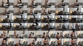 Strap-on training for Miss Sin's slaves: abby sin and gimp - Miss Melisande Sin