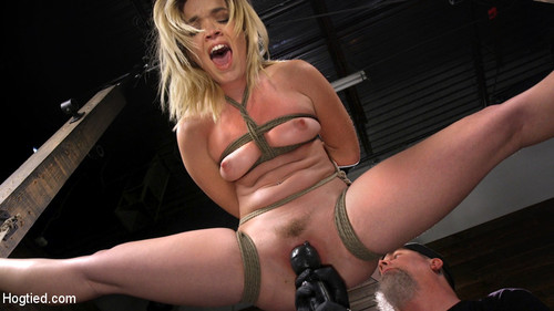 Katie Kush - Katie Kush Blonde, All Natural, Flexible Slut In Grueling Bondage (HD)