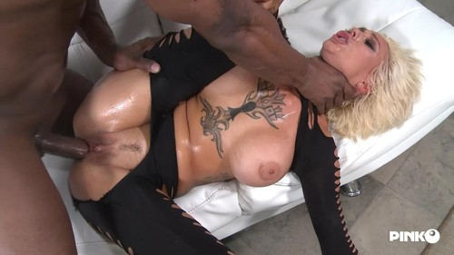 Sexy Blonde And Busty Riding A Big Black Cock [HD]