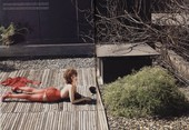 Eva Mendes Spreads Her Legs and Shows Her Nude Breasts for Italian Vogue Magazine!!!