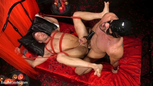 BoundGods - Bound Valentine: Alex Mecum Covered in Wax, Suspended, Pumped, Fucked (with Ricky Lar...