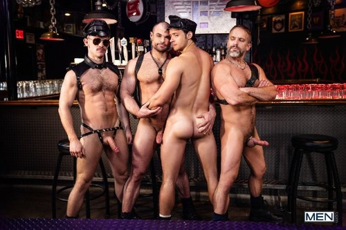 MEN - Tom Of Finland: Leather Bar Initiation: Dirk Caber, Kurtis Wolfe, Nate Grimes, Jaxx Thanatos