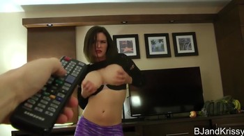 Taking control of a titted sister