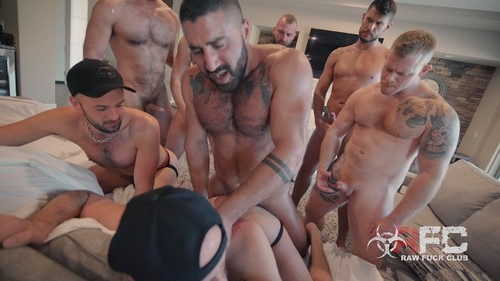 RawFuckClub - Gang Bang Twins Bareback (Logan Stevens, Jake Morgan, Justin Morgan, Jason Morgan, ...