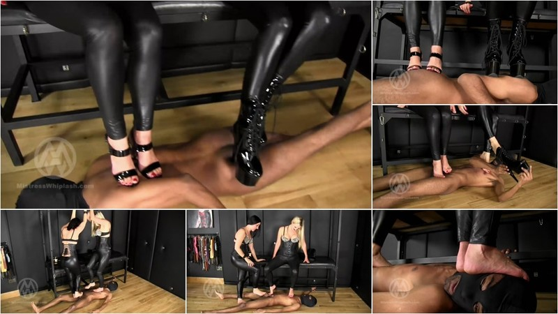 Wl1455 : Human Carpet Double High Heel &Amp; Barefoot Trample [FullHD 1080P]