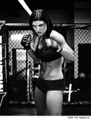 GINA CARANO TOPLESS ON ESPN MAGAZINE COVER