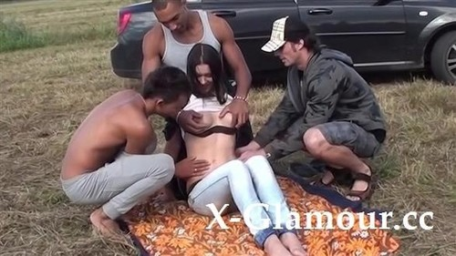 Outdoor Sausage Party With A Young Slut [HD]