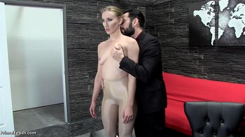 The boss subdues the young bitch and fucks her in the office