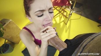 Lola Fae Sucks Uncut Cock POV