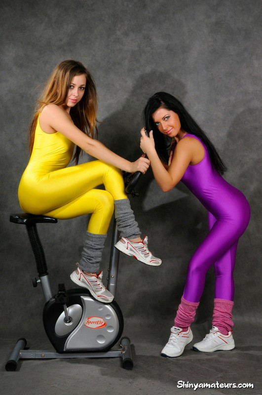 lesbian girls in kinky gym clothes