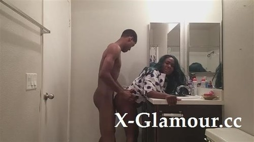 Petite Ebony Chick Takes A Big Dick From Behind [HD]