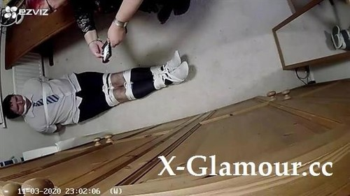 Man In School Uniform Tightly Bound And Cleave Gagged In Room [HD]
