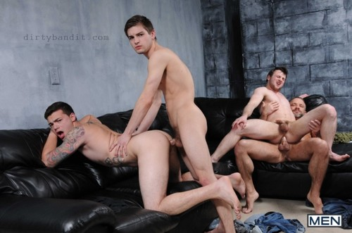 MEN - Stepfather's Secret Part 4: Dirk Caber, Johnny Rapid, Scott Harbor & Trevor Spade
