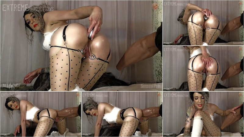 Abigail Dupree - Abigail Dupree monster rubber dildo anal riding with iron ball in ass [FullHD 1080p]
