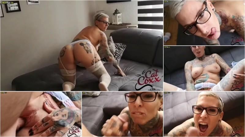 Cat-Coxx - Durchgefickt Dirty Talk und Mega Spermabombe auf die Brille gewixxt [FullHD 1080P]