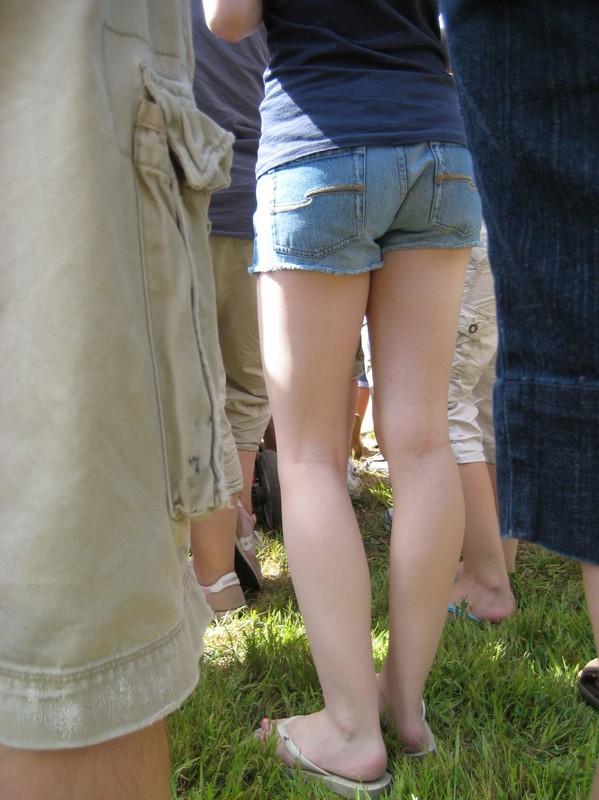 wonderful ass in denim shorts