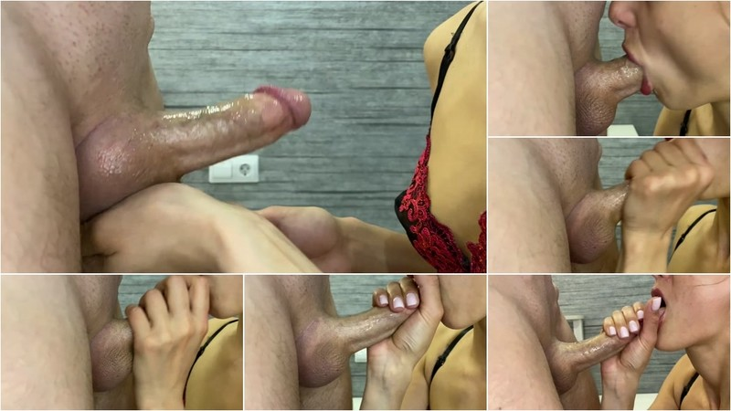 SandyCandy7 - The Brunette Beautifully took a Cock in her Mouth and got Cum in her Mouth [FullHD 1080P]