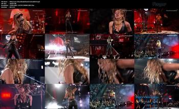 Miley Cyrus Video Con Imagen Heavy Con Top y Pantalones De Cuero Con Botas Altas En El Concierto iHeart Radio Music Festival