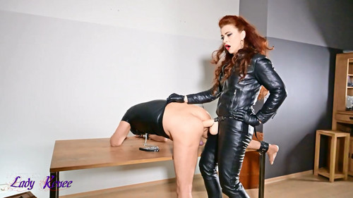 Mistress Lady Renee - Full Leather Strapon