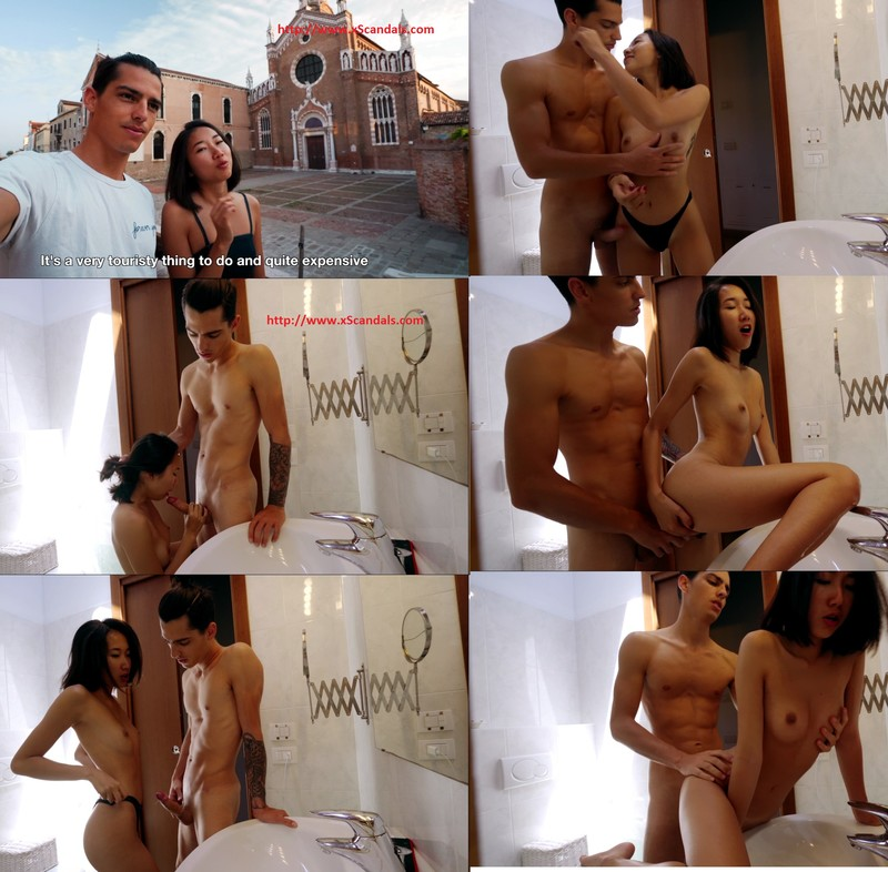 Sex Diary Love in Venice, the best European girlfriend Lin Yaer Water City Passion Cannon