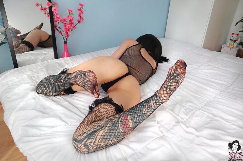 Foxaurus - stockings and bodysuit