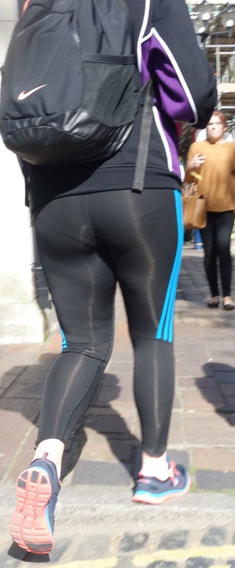 handsome booty in adidas yogapants