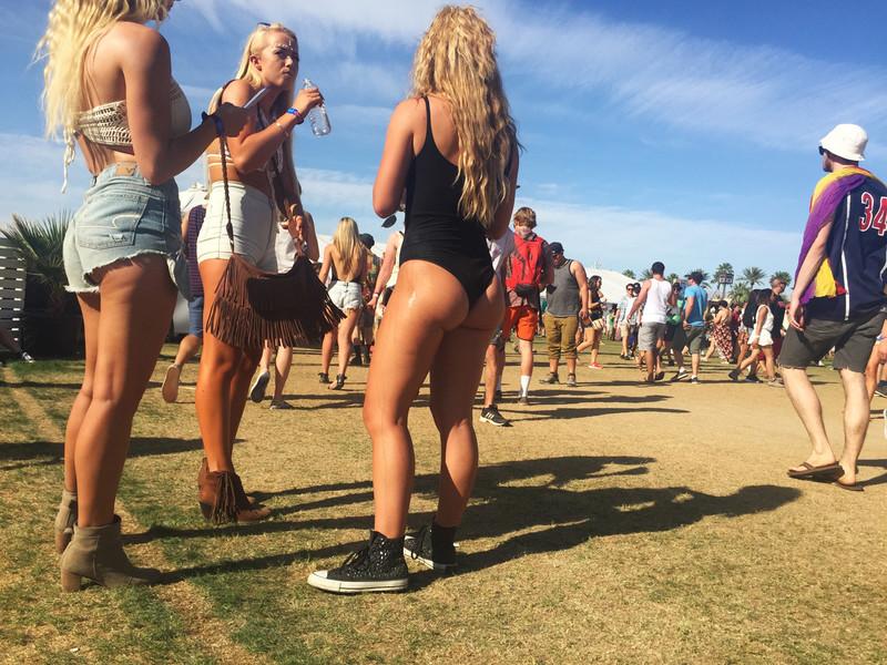 hot festival girl in sexy black leotards