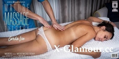 """Gerda Ice in """"Hairy Gerda Ice Gets A Special Massage From A Naughty Young Therapist"""" [FullHD]"""