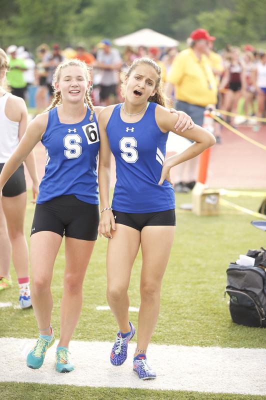 track & field girls in spandex shorts