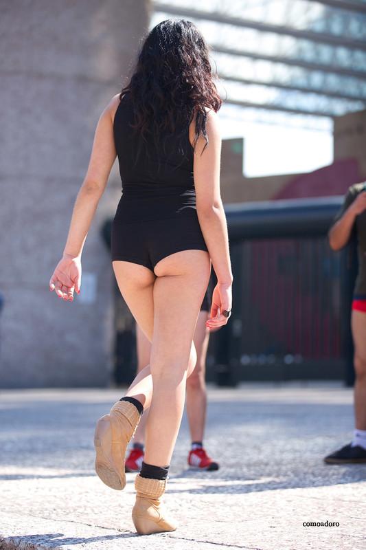hispanic hottie in sexy shorts & boots