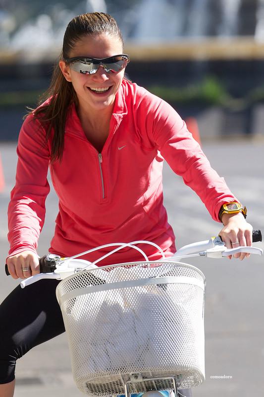 bicycle girls in naughty leggings