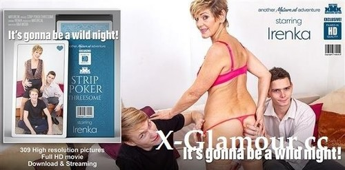 """Irenka 61 in """"Stripoker Threesome With A Mature Slut And Two Toyboys"""" [FullHD]"""