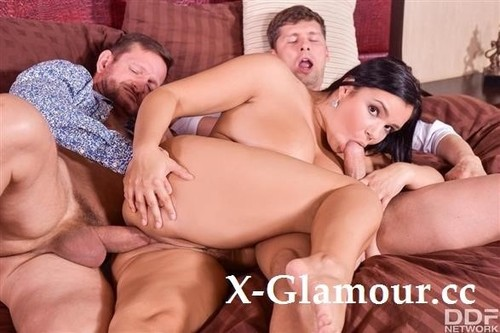 Sofia Lee - Sofia Pleasures Herself And Then Gets Doublestuffed By Her Neighbors (HD)