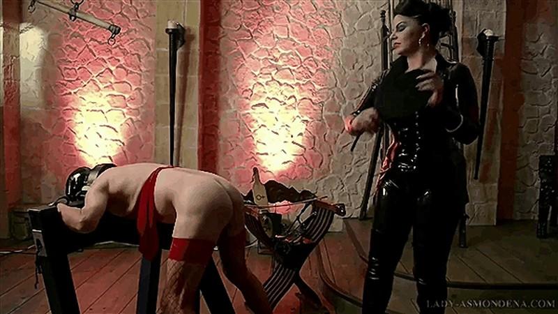 Mistress Asmondena - The Two Slaves - One Beating [FullHD 1080P]