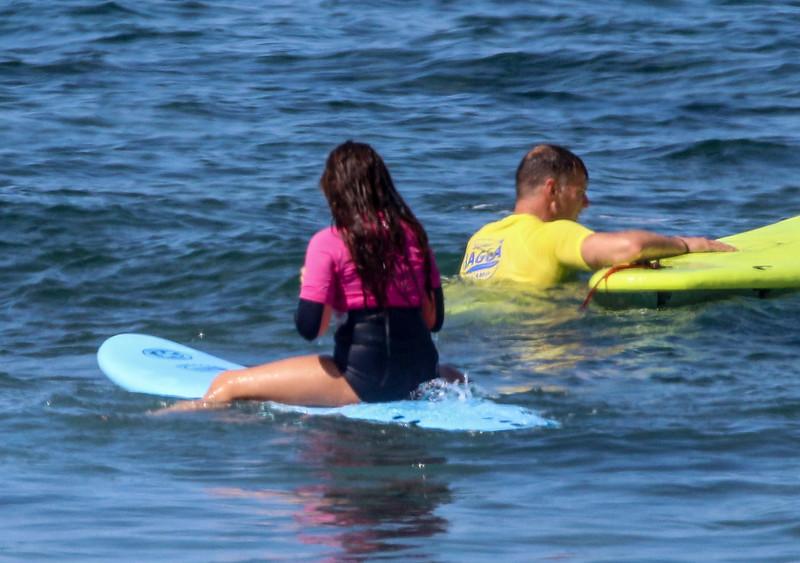 tenerife surfer girl in tight sexy spandex