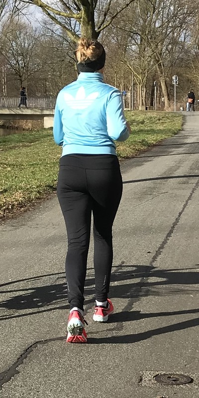 jogger milf in fitness pants