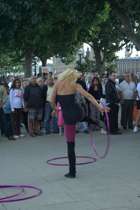 hula hoop girl in sexy outfit