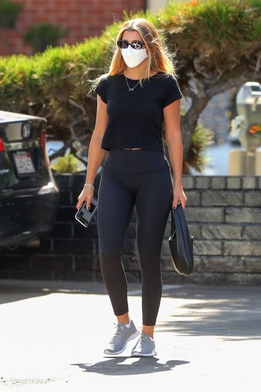 stunning babe Sofia Richie in black leggings
